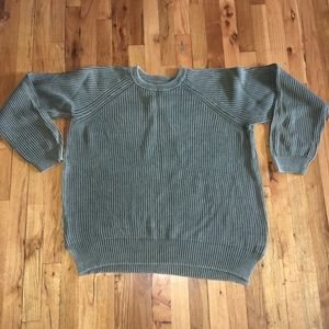 UO Cable Knit Sweater Olive